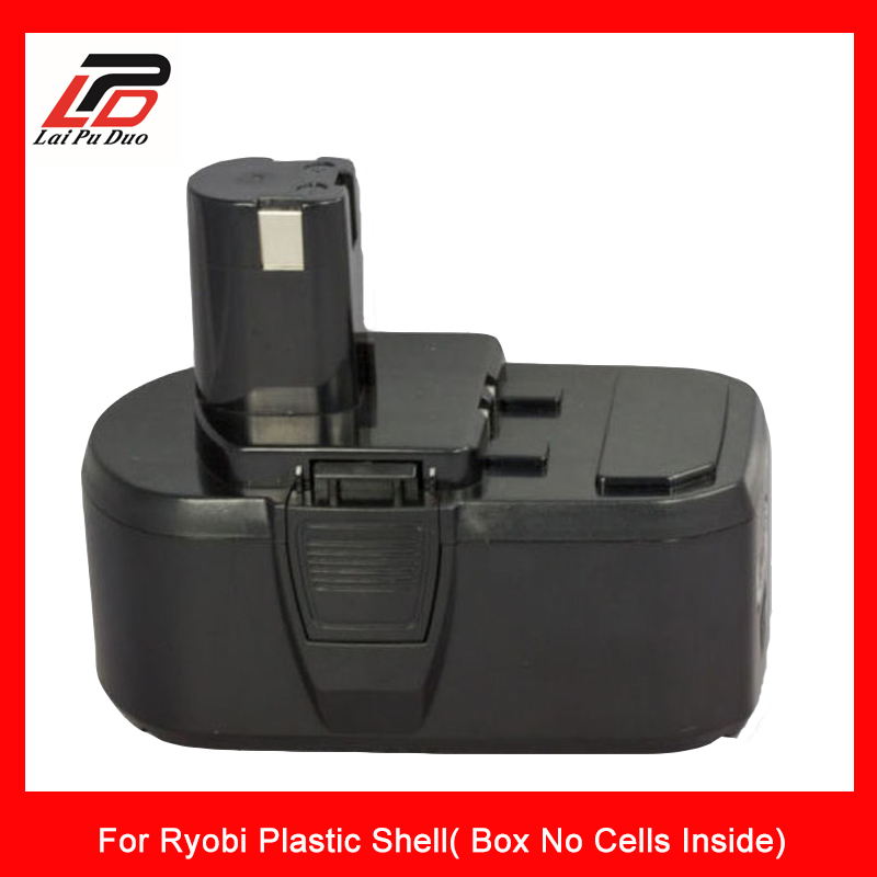 Laipuduo Rechargeable Battery case For Ryobi 18v Li I Plastic Shell Box No Cells Inside