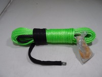 Green 8mm 30m Atv Winch Cable Synthetic Winch Rope For 4wd Offroad Spare Parts Boat Winch