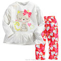 New 2017 Quality 100% Cotton Branded Baby Girls Kids Toddler Girls Children Suits 2pcs Long Sleeve Clothing Sets Girls Baby Sets