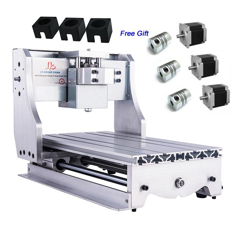 Aluminium CNC Kit de Cadre pour CNC Routeur 3020 avec 3 pièces de Moteur pas à pas de Support Raccords