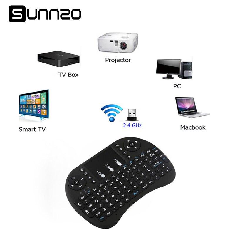 SUNNZO P9 Mini Wireless Keyboard Air Mouse USB Keyboard Remote Control Touchpad For Xiaomi mi box Android TV Box A95X X96 цены онлайн