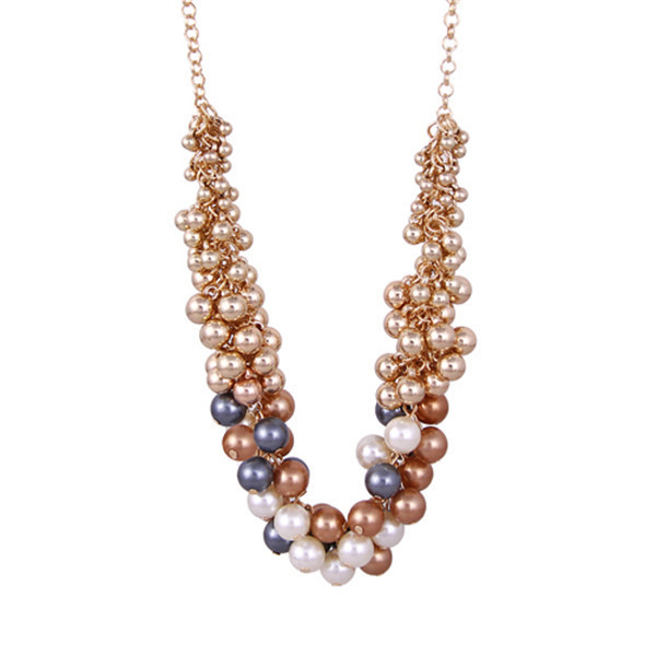 Cheap wholesale ebay modern design big chunky pearl necklace