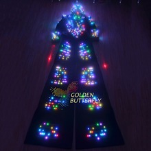LED Clothes Glowing Helmet Fashion Luminous Clothing Talent Show Men's LED Suits Ballroom Mechanical Dance Dress Accessories