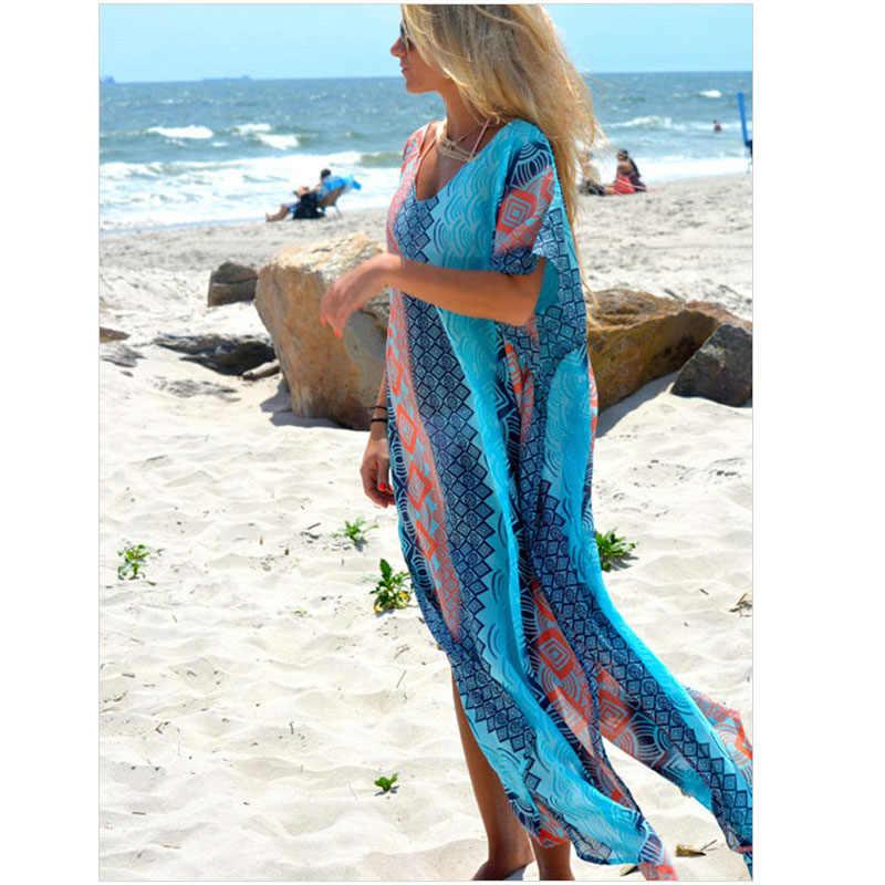 Summer dress 2017 nuove donne lungo dress sexy boho beach maxi dress donne di stile di estate hippie boemia abiti vestito estivo s2248