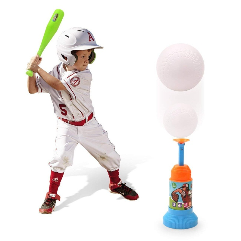 Billede af Training Automatic Launcher Baseball Bat Toys-Indoor Outdoor Sports Baseball Games T-Ball Set for Children Family Outdoor Game