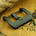 MAIKES New Stainless Steel Watchband Clasp 22mm PVD Black Screw-in Buckle Case For Panerai Strap Band Watch Buckle