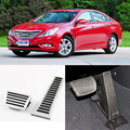 Brand New 2pcs Aluminium Non Slip Foot Rest Fuel Gas Brake Pedal Cover For Hyundai Sonata 8th AT 2011-2015