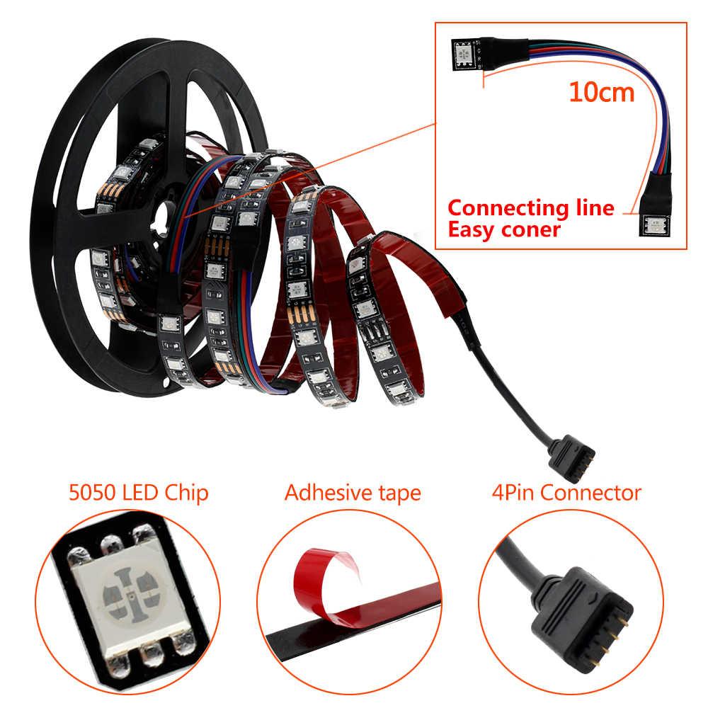 USB Светодиодная лента 5050 гибкий RGB светодиод DC5V RGB цвет сменный ТВ фоновое освещение.
