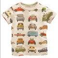 Fibra De 2-6 Anos de Verão de Algodão de Manga Curta T-shirt das meninas Dos Meninos Roupas O-pescoço Crianças Camisetas CKT002