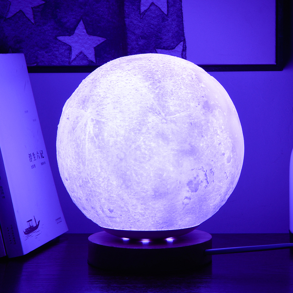 7 Colors LED Night Light Moon Lamp 3D Print Moonlight Luna Touch 2 Colors Change For Creative Gift Home Decor magnetic floating levitation 3d print moon lamp led night light 2 color auto change moon light home decor creative birthday gift