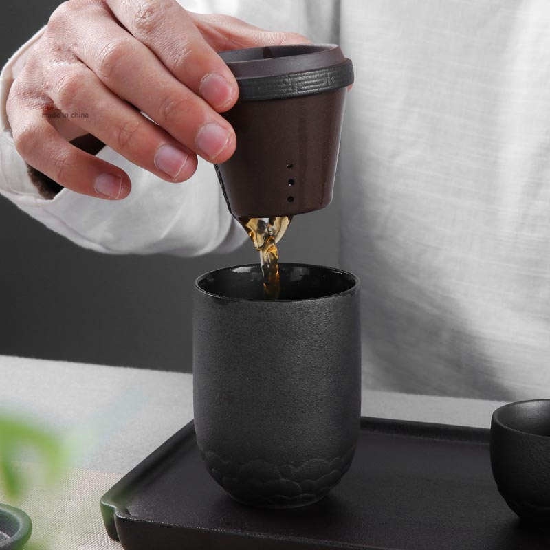 Zen Ceremony Mini Tea Maker Office Portable Travel Quick Cup Kung Fu Set 1 Teapot 2 Teacups Ceramic Co Pottery Pot In Teaware Sets From Home