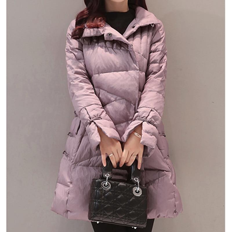 Col Single Purple Montant Coton Confortable Long Rembourré A480 Red En Hiver Wine light 2018 breasted black Veste Femme orange Épaissir Lâche Moyen B1gxgXt