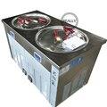 Бесплатная доставка прочные двойные круглые сковороды ролл из жареного мороженого машина для жареного льда двойные сковороды для жареного...
