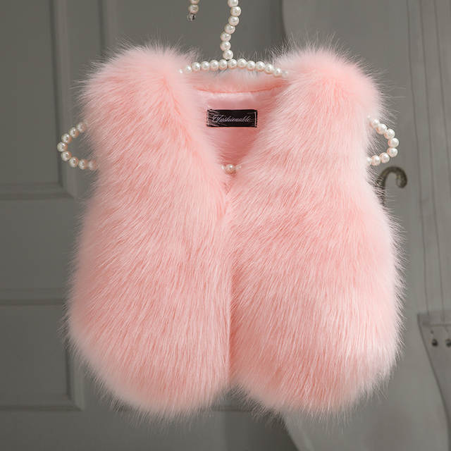 0cde39a6b Online Shop 2018 Christmas Winter Faux Fur Kids Girls Vest Fashion ...