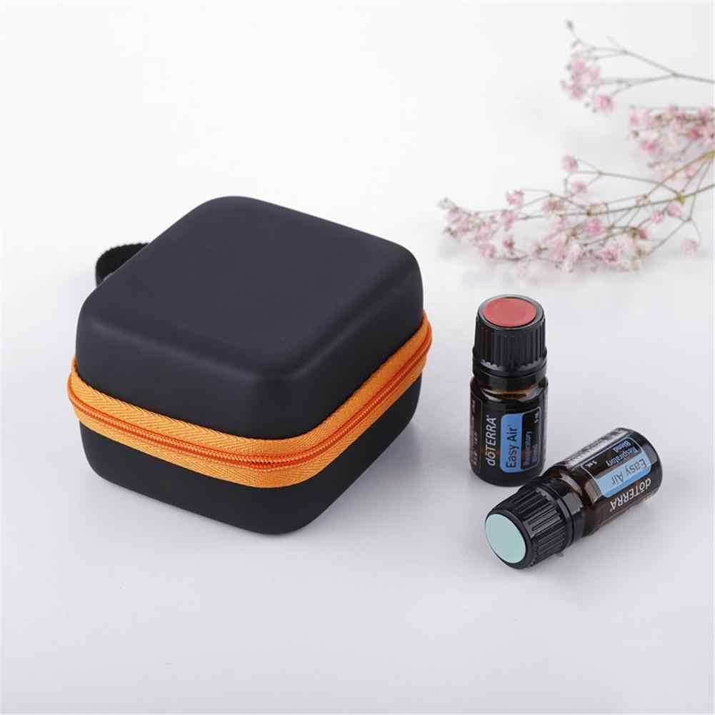 7 Compartments 5ML Essential Oil Storage Bag Women Perfume Oil Bottle Display Case Portable Travel Nail Polish Organizer New