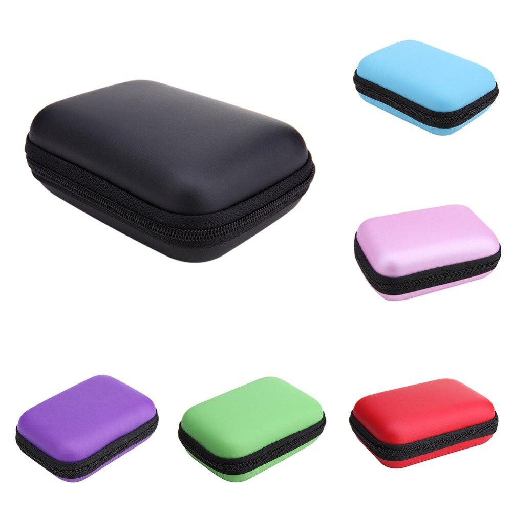 ᗑ】Mini almacenamiento externo duro caso bolsas auricular cable ...