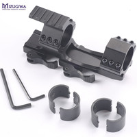 Tactical Heavy Duty Quick Release Scope Rail Mount Ring Extended Top Side Rail 20mm Mount Rifle
