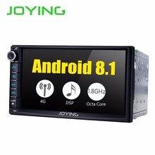 JOYING 7 «Octa Core 2 din Android 8,1 Автомобильный мультимедийный плеер встроенный 4 г модуль 4 г + 32 г rom автомобильный Радио Поддержка Carplay и Android авто