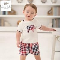 DB926 Dave Bella Summer Printed Short Sleeved Baby Clothing Sets For Boy Printed Sets Infant Set