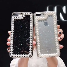 XINGDUO Luxury Pearl phone case for iphone XR Glitter Jewelled Little Star and Moon X XS MAX 5 5S 6 6S 7 8 Plus