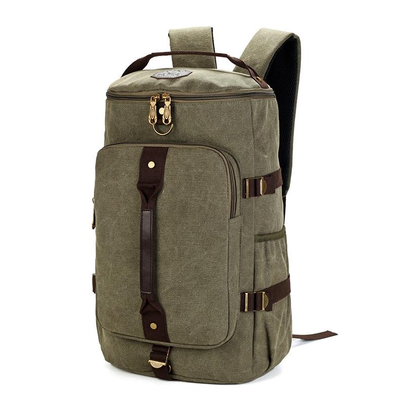 MCO Large Capacity Travel Backpack For Men Retro Waterproof Canvas Laptop Bagpack Men s Weekend Duffle