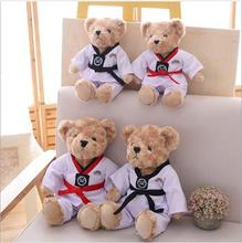 WYZHY Taekwondo couple bear plush toys send friends send children 40CM цена 2017