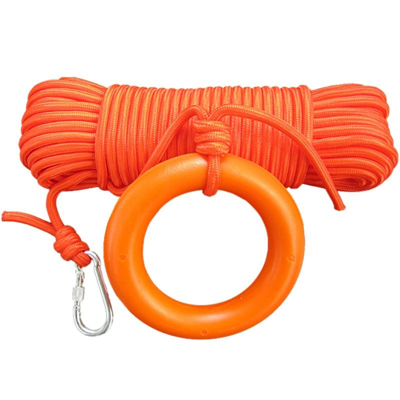 30 Meters Safety Lifeline Professional 8mm Diameter Floating Rope Outdoor Snorkeling Rescue Buoyant Lifelines Life Saving Supply