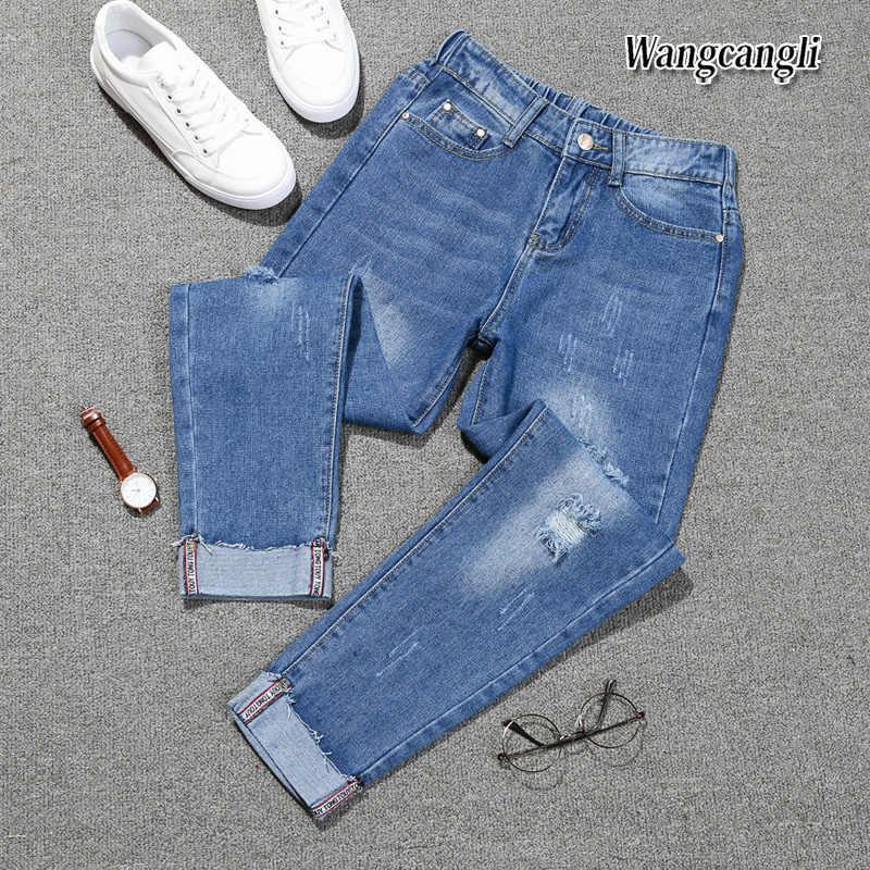 Pantalones Vaqueros De Cintura Alta Para Mujer Pantalon Haren De Talla Grande 5xl Para Primavera 2021 Pantalones Vaqueros Aliexpress
