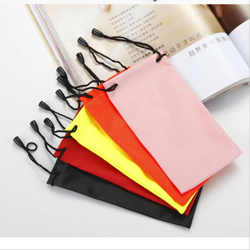 Glasses Case Soft Waterproof Cloth Sunglasses Bag Glasses Pouch Eyeglasses Cases Mixed Colors