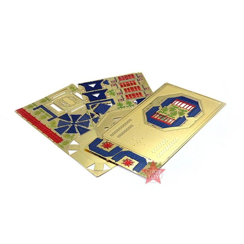 Microworld 3D Metal Nano Puzzle Sun Yat Sen Memorial Hall Building Model Kits J041 DIY 3D Laser Cut Jigsaw Toys For Audit