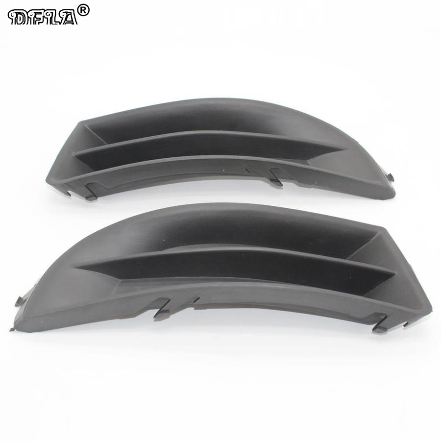 2PCS For Skoda Octavia 2 MK2 A5 A6 2009 2010 2011 2012 2013 Car-Styling Fog Light Fog Lamp Grille Cover Without Fog Lamp Hole