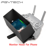 Tüketici Elektroniği'ten Prop Koruyucu'de PGYTECH Telefon Monitör Hood uzaktan kumanda kılıfı Güneş Gölge DJI Mavic Pro/hava Phantom 4 pro Spark drone
