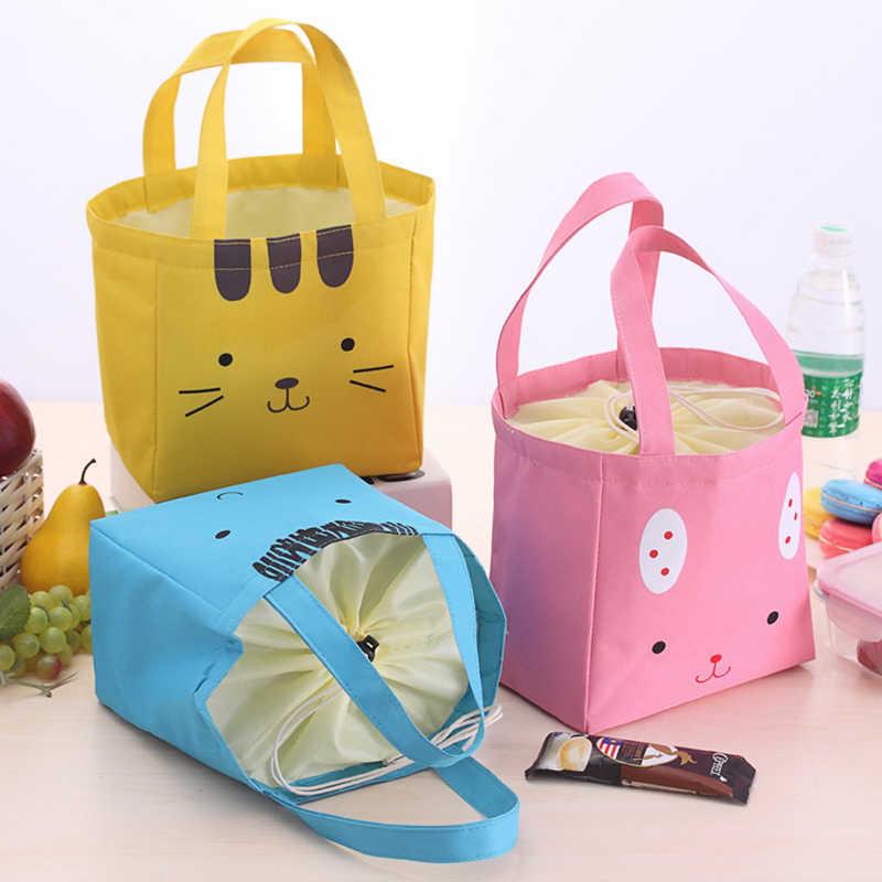1 PC Portátil Isolado Food Storage Bag Lunch Bag Lunch Box Térmica Senhora Carry Picinic Tote Alimentos C5