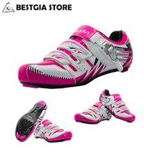 b7b3b3757 BOODUN جديد تصميم المهنية رياضية الدراجات أحذية النساء في الهواء الطلق  الطريق الجبلية MTB الدراجة أحذية