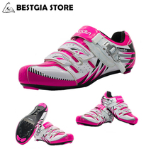 BOODUN New Design Professional Athletic Cycling Shoes Women Outdoor Road Mountain MTB Bike Shoes Non-slip Bicycle Shoes Sapatos