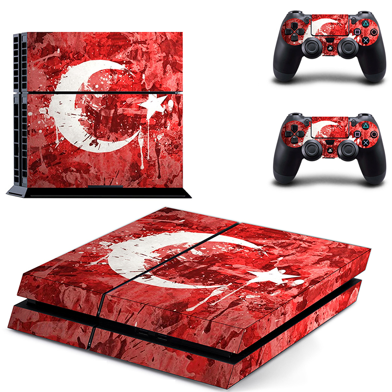 Image 5 - Stickers PVC Vinly Ps4 Skin of Turkey Flag Sticker Cover For Sony Playstation 4 Console and Controller Ps4 Accessory-in Stickers from Consumer Electronics