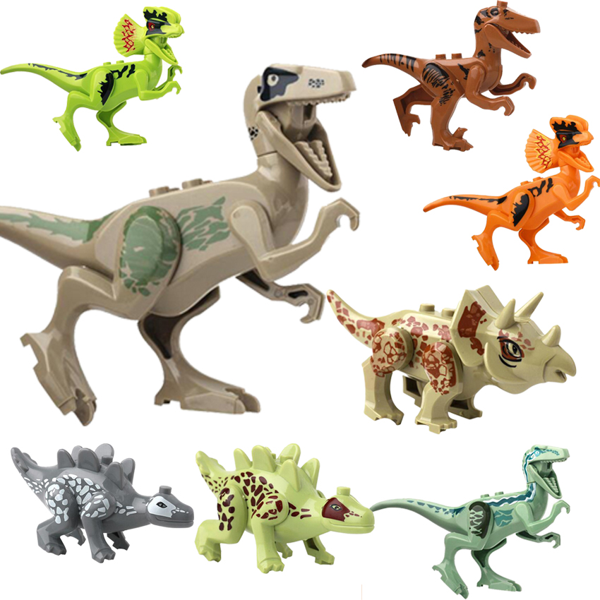 8 pcs/lot Dinosaur Childrens Favourite Educational Bricks Toy Building Blocks gift for children