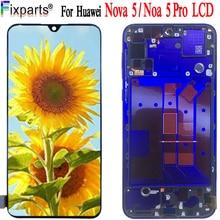 Original Huawei Nova 5 Pro LCD SEA-AL10 SEA-TL10 Glass Screen Touch Panel Sensor Display Replacement Parts