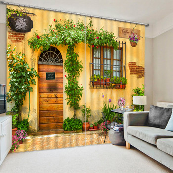 Beautiful garden 3D Blackout Window Curtains For Living room Bedding room Hotel/Office Curtain Drapes Cortinas para sala