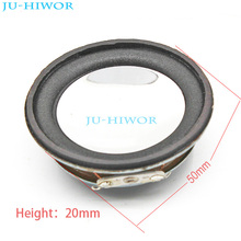 (2pcs/lot) 8 ohm 2W 50MM Speaker Internal Magnetic 18MM Magnetic 20MM Thickness Silver Bright