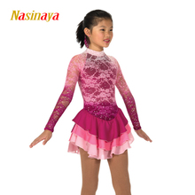 Nasinaya Figure Skating Dress Customized Competition Ice Skating Skirt for Girl Women Kids Patinaje Gymnastics Performance 283