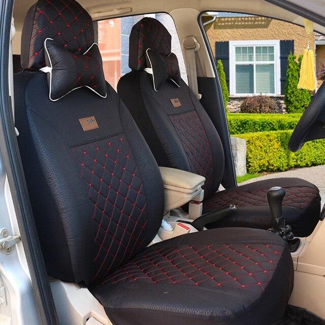 Alta calidad del asiento de coche cubre Para Dacia Todos Los Modelos Sandero Duster Logan negro/rojo/beige/gris/púrpura accesorios del coche auto styling