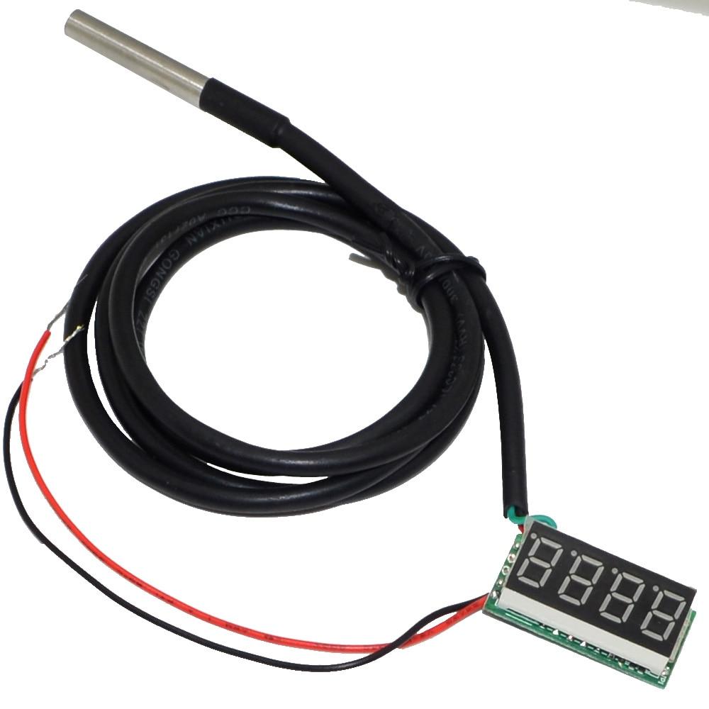 Температура ds18b20 зонд-55 до 125 градусов Цельсия 4 цифровой термометр 0,36 дюйма синий светодиод+-10000245