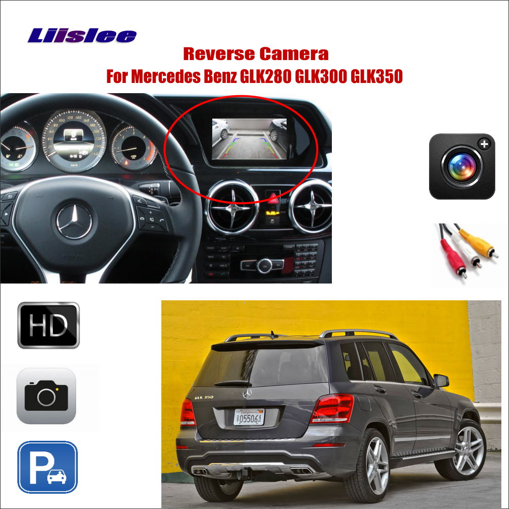 Liislee For Mercedes Benz GLK280 GLK300 GLK350 Car Reverse Rear  View Camera  Connect Original Factory Screen  RCA Adapter