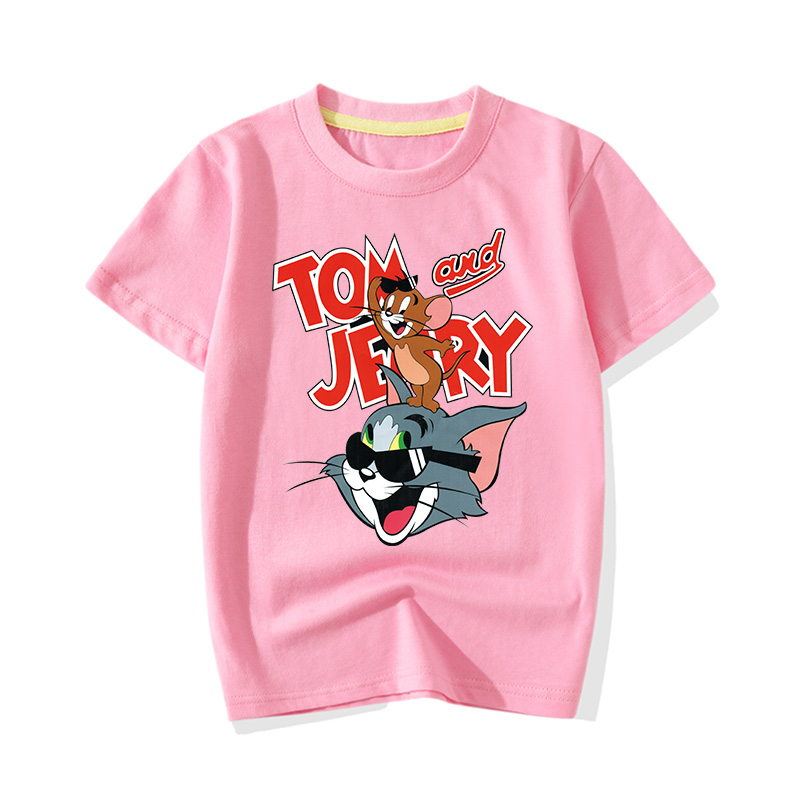 Baby Girls Short-Sleeve Terrible Freddy Wolf T-Shirt Cotton Casual Childrens Tee Black