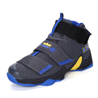 2017 Hot Brand Men Basketball Shoes High Top Leather Basketball Sneakers Boys Comfortable Basketball Boots Black