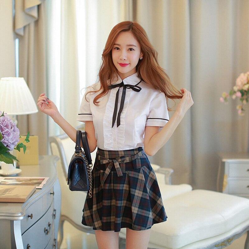 002cac5cc51e9 Otoño coreano japonés marinero uniforme escolar Mavy británico uniforme  uniformes escolares falda Plaid faldas estudiantes trajes High School ...