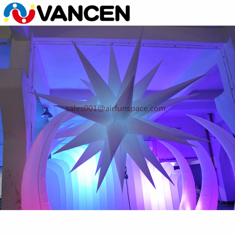 1.5m diameter advertising LED light balloon handing seaweed style lighting balloon inflatable led light decoration for party|Inflatable Bouncers| |  - title=