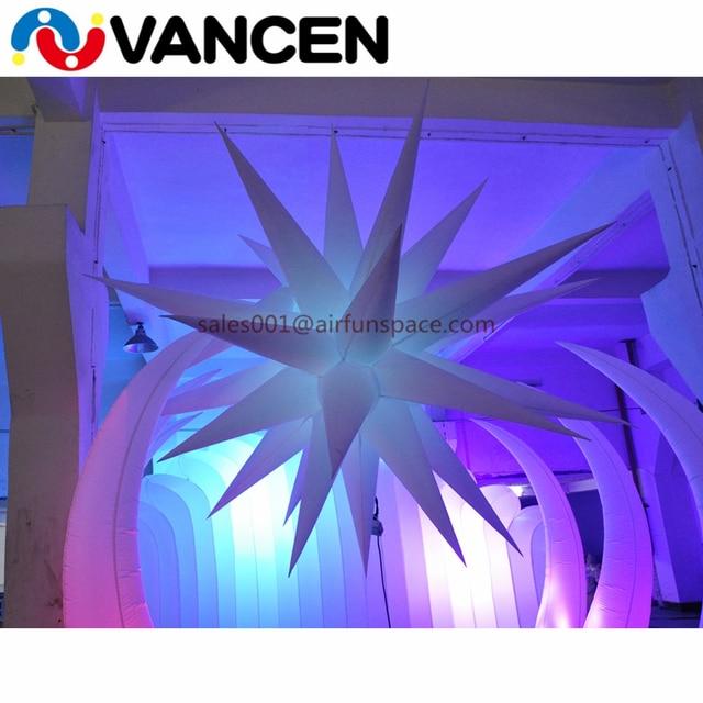 1.5m diameter advertising LED light balloon handing seaweed style lighting balloon inflatable led light decoration for party