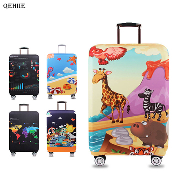 94a9ac421 Cubierta de protección elástica para maleta de equipaje QEHIIE, funda para  el polvo de la carretilla, ...